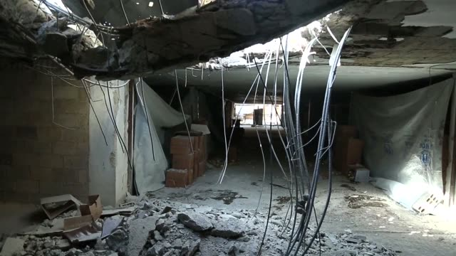 A warehouse storing humanitarian aid in a rebel held Syria town was heavily bombarded Wednesday hit a local official said days after desperately...