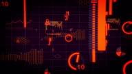 warm Digital data charts internet