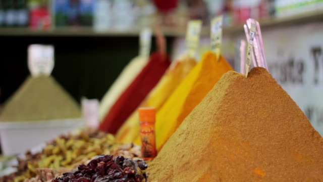 Warm spices at the souk.