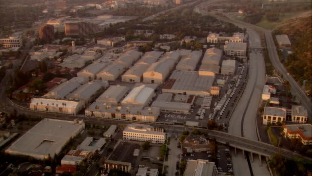 AERIAL Warner Bros Studios, Hollywood, California, USA