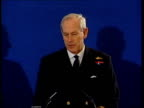 Warning from military chief/talks held ITN Geoff Hoon MP towards in press conference followed by Admiral Sir Michael Boyce SIDE CMS Sir Michael Boyce...