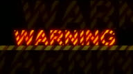 'Warning' glowing text (loopable)