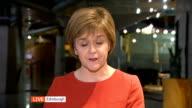 SNP warning over a hung parliament ENGLAND London GIR INT Nicola Sturgeon MSP LIVE 2WAY interview from Edinburgh SOT