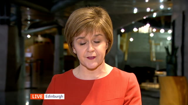 SNP warning over a hung parliament ENGLAND London GIR INT Nicola Sturgeon MSP LIVE 2WAY interview from Edinburgh SOT