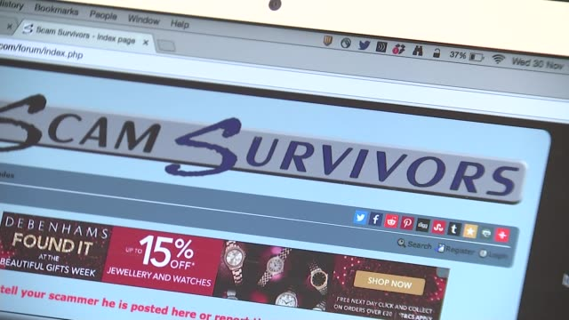 Warning over rise in 'sextortion' online blackmail 'Scam survivors' website Wayne May interview SOT