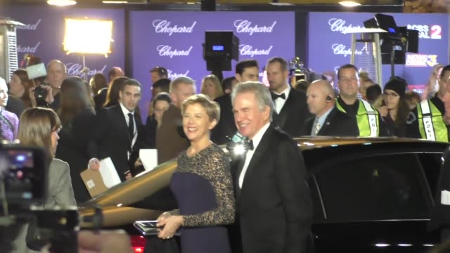 Warren Beatty Annette Bening arriving to the Palm Springs International Film Festival Film Awards Gala in Palm Springs in Celebrity Sightings in Los...
