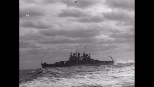 WS TS Warship moving in sea / United States