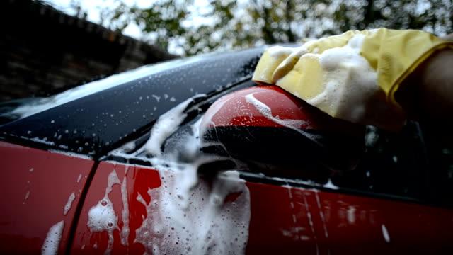 Washing rear-view mirror
