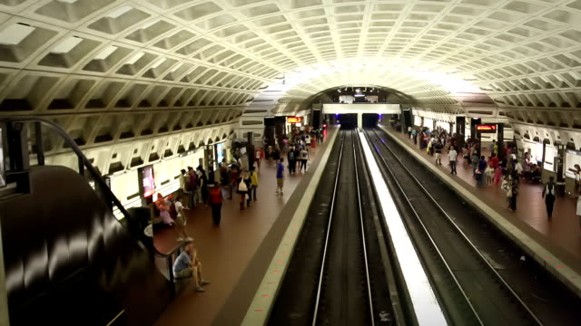 Washington DC Metro Train Station