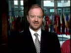 British Foreign Secretary Robin Cook MP interview SOT No allies closer than the United Sttes and Britain Cook standing with Secretary of State...