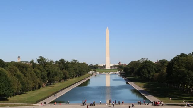 Washington Monument and Reflecting Pool in Fall