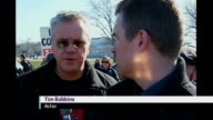 protests over War in Iraq Tim Robbins interview SOT On possible impeachment of President George W Bush