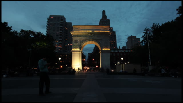 Washington Square Nightfall