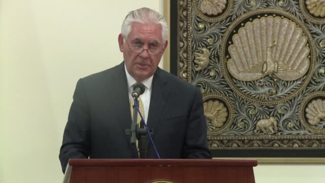 Washington's top diplomat Rex Tillerson says he will not yet push for sanctions against Myanmar over the Rohingya refugee crisis but calls for an...