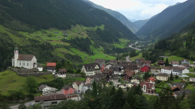Wassen at Gotthard, Canton Uri, Switzerland, Europe