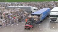 MS TD Waste paper storage yard at paper mill / Weener, Lower Saxony, Germany