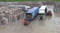 MS Waste paper storage yard at paper mill / Weener, Lower Saxony, Germany