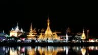 Wat Jongkham in Mae Hong Son Thailand.