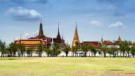 Wat Phra Keo-Tempel Bangkok, Thailand, Zeitraffer