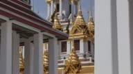 Wat Ratchanatdaram Buddhist Temple on Ratchadamnoen Klang and Maha Chai Road, Bangkok, Thailand, Southeast Asia, Asia