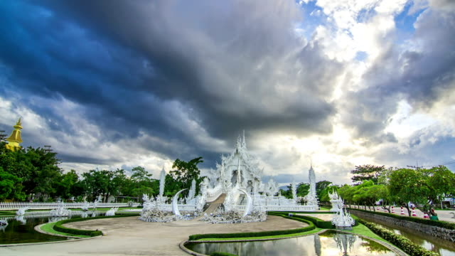 Wat Rong Khun, The White Temple, Thailand, Hyperlapse