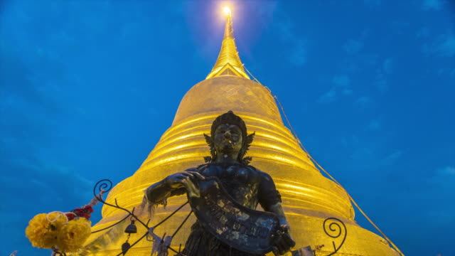 Wat Saket (Golden Mount) Bangkok - 4K Time lapse