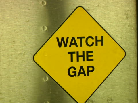 CU, Watch the gap sign on railroad station platform
