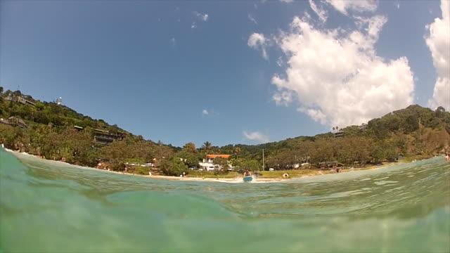 Wategos beach, Byron Bay (POV shot from inside the water)