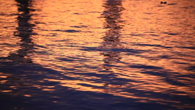 Wasser Hintergrund bei Sonnenuntergang