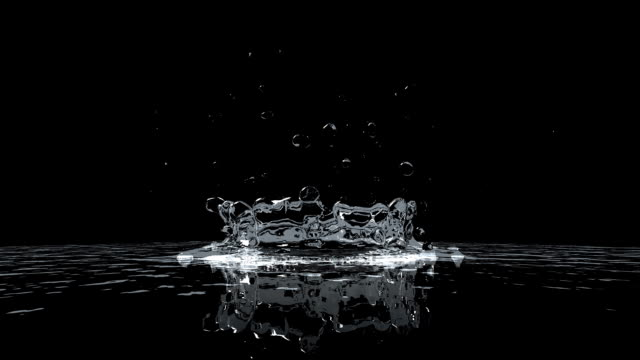 Water Drops extreme slow motion