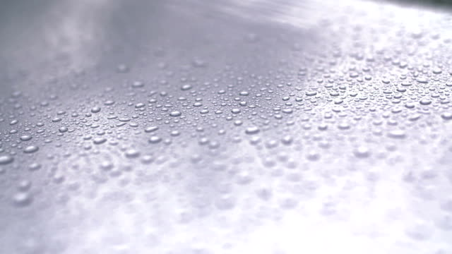 water drops on car surfac.