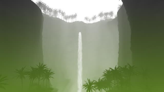 Water Fall Green Design Element