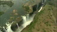 Water flowing over Victoria Falls, Zimbabwe