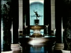 1958 MS Water fountain with statue in US National Gallery of Art / Washington DC / AUDIO