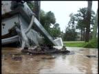 Water gushes from broken water main Fort Pierce Florida 4 Sep 2004