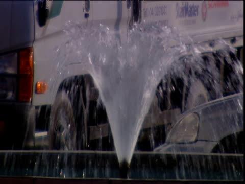 Water jets spray from fountain Dubai
