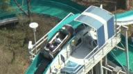 MS AERIAL TS Water slide ride at Everland Amusement Park / Yongin, Gyeonggido, South Korea