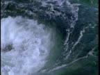 Water spirals into churning rapids in Telegraph Cove.