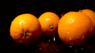 Water Splash On Orange