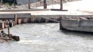 water stream of dam