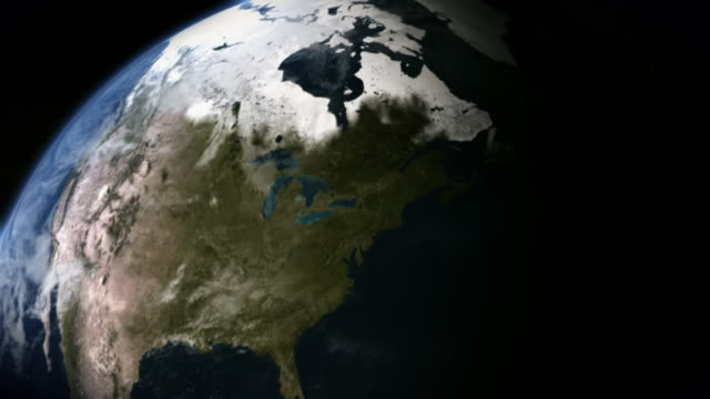 Water surges over North America's coastlines.