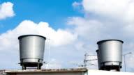Water tank against blue sky