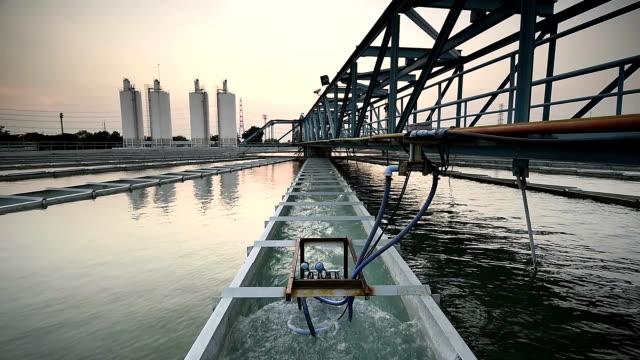 Waterzuiveringsinstallatie met sunrise