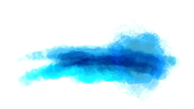 Aquarell Sprung auf einem weißen Hintergrund.
