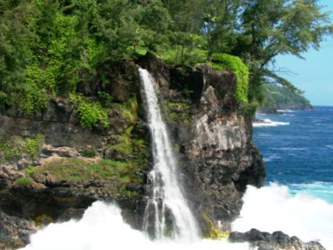 Waterfall at ocean's edge