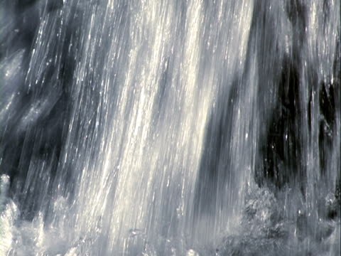 Waterfall background, flows of water + sound