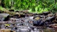Waterfall canal slide shot.