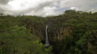 4K waterfall cascading over the escarpment, Top End, NT