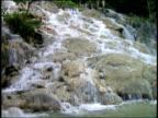Waterfall going over rocks / Jamaica
