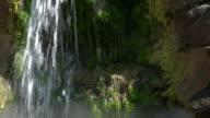 Waterfall in Doue La Fontaine, near Saumur in France, Slow Motion